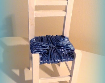 1/6 Scale Doll's Chair with Rush Style Seat