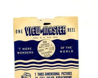 50's era View-Master reels:Condition excellent, Reel 131. Yosemite-I