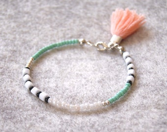 Beaded Bracelet / Friendship Bracelet / Seed Bead Bracelet / Charm Bracelet / Tassel Bracelet / Layering Bracelet / Boho Jewelry