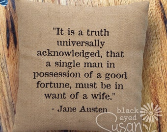Items Similar To Jane Austen Quotes It Is A Truth