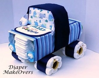 truck diaper cake baby boy diaper cake unique diaper cake baby shower gift