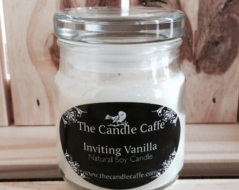 Natural Scented Soy Candle in a Three Ounce Status Jar