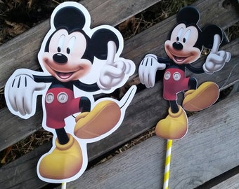 Mickey mouse centerpiece cut out 8 inch or 10 inch
