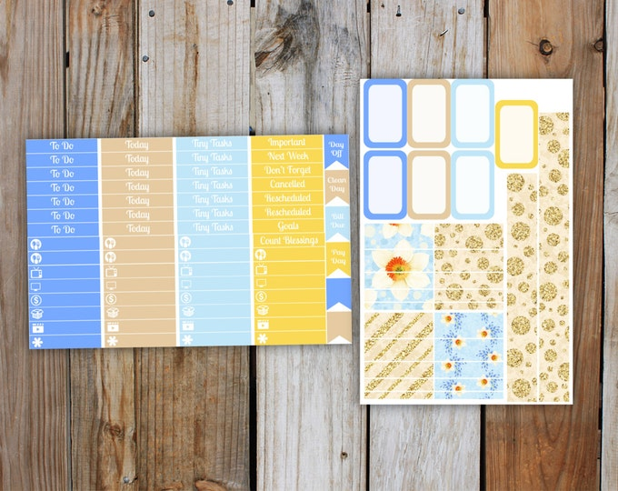 Floral Pop Planner Stickers Mini Kit for use with ERIN CONDREN LifePlanner