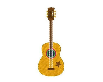 Instant Download Guitar Machine Embroidery Design, Musical Instrument, Spanish Guitar, Music Machine Embroidery Design No: JG00035-4