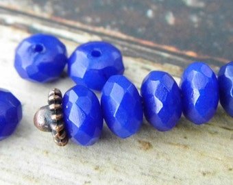 LAST ONES...Eternal Sapphire Gemstone Beads, Beads, Rondelle Beads, Jewelry Supplies