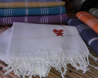 White Turkish towel,bath towel,handmade turkish beach towel,Turkish hammam towel,sarong ,fouta pareo