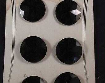"vintage / antique german buttons ,for collectors or dressmaker, diam. 1.4""  diamond style"