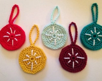 5 North Star Crochet Christmas Ornaments