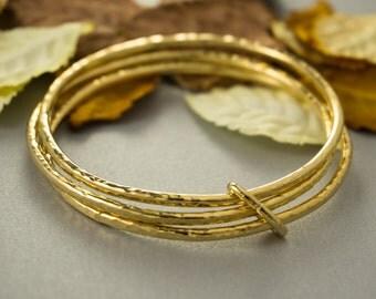 Gold Bangles, Stackable Gold Bracelets, Stackable Gold Bangles, Stacking Bangles, Gold stack bracelet, Stacking bracelet set, Bangle Set