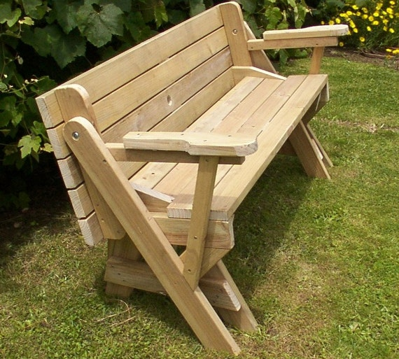 1 piece folding picnic table woodworking plans from - Folding picnic table plans free ...