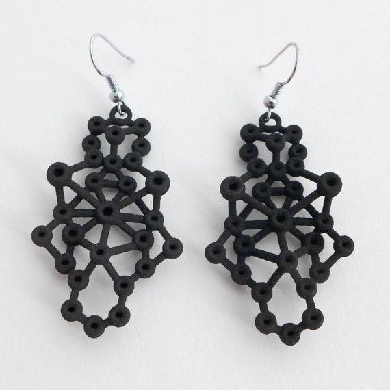 Amorphe Earrings - Science Jewelry - Molecular Earrings