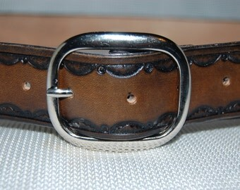 mens leather belt. 100% leather. hand made