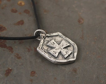 Shield of faith etsy protectors shield pendant visible faith sterling silver jewelry christian handmade aloadofball Images