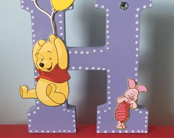 Winnie the Pooh Baby Nursery Wooden Name Letter or Phrase