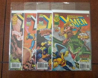 Lot of 4 Professor Xavier and the X-Men Marvel Comic Books