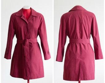Burgundy belted jacket from London Fog