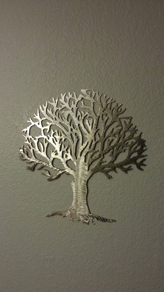 Metal tree stainless steel tree wall art wall by for Stainless steel wall art