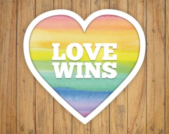 Love Wins Heart Sticker