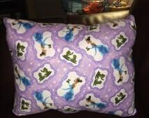 Tiana kissing a frog wishing on stars Princess and the frog pillow