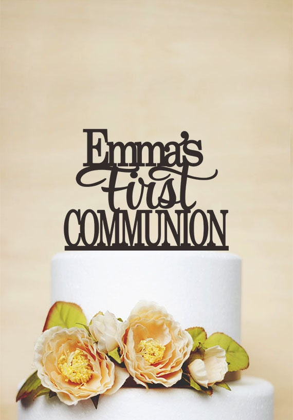 First Communion Cake TopperBaptism Cake Topper With