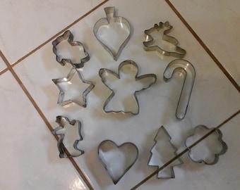 10 Vintage cookie cutters