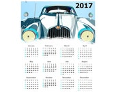 Old Vintage Car 2017 Calendar One Page 8 x 10 PDF Instant Download