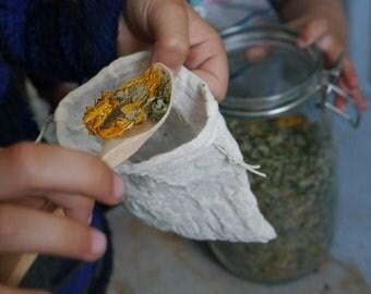 Reusable Tea Bags - unbleached organic cotton (set of 2)