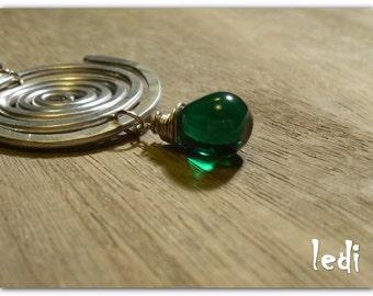 Water circles and Bohemian crystal earrings