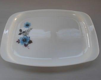 """Vintage JAJ Pyrex """"Gentian"""" Serving Plate or Platter 1960's  #10077"""