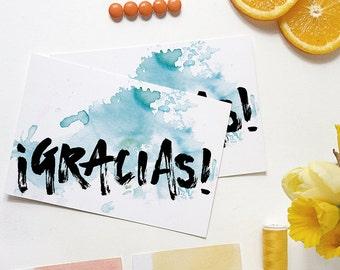 gracias | gracias card | thank you card | thanks card | spanish card