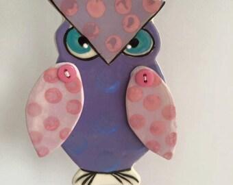 Owl hanging ornament