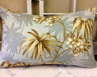 Pillow Cover Tommy Bahama Tropical Palm Tree Print w/ Hidden Zipper, 14x22