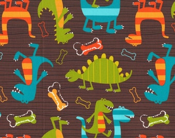 Dino Dudes fabric by Michael Miller