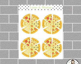 Pizza Night Planner Stickers