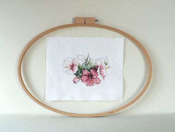 Large oval wood embroidery hoop