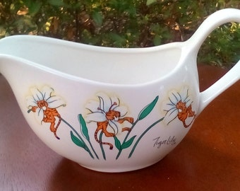 Kitty Flower Tater Topper (Vintage Tiger Lily Artmark Petal Pets Gravy Boat) - Free Shipping!