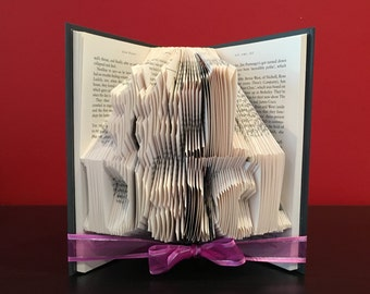 Unique Gift for Dads - #1 Dad Folded Book Art