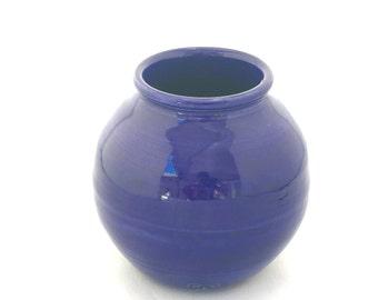 Blue Round Vase
