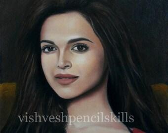Deepika Padukone - the enigmatic expression Original pastel artwork