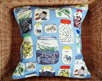 Handmade Children's Bug and Insect Cotton Slip Cushion Cover