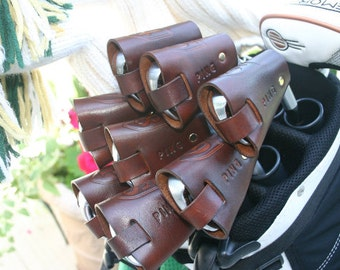 Clubshields Mahogany Leather Golf Club Head Covers MADE TO ORDER 18.00 per cover
