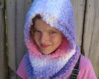 Knitted hood-sz 5-15yr