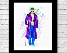 Suicide Squad - The Joker Watercolor Painting - Buy 2 Get 1 FREE