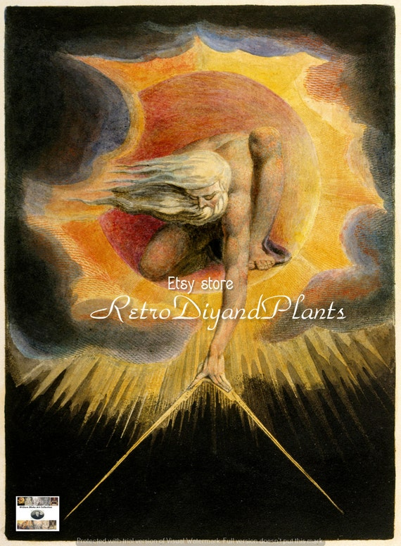WILLIAM BLAKE The Ancient of days ART  instant download