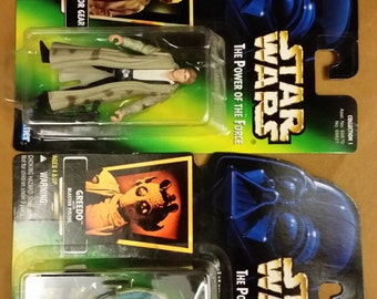 Vintage Star Wars Han Solo and Greedo from 1996