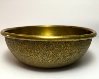 "Rare Vintage 1950's Brass Bowl Inscribed ""VOC. No. 52105 M.M.S."" 5.5"" x 1.75"""