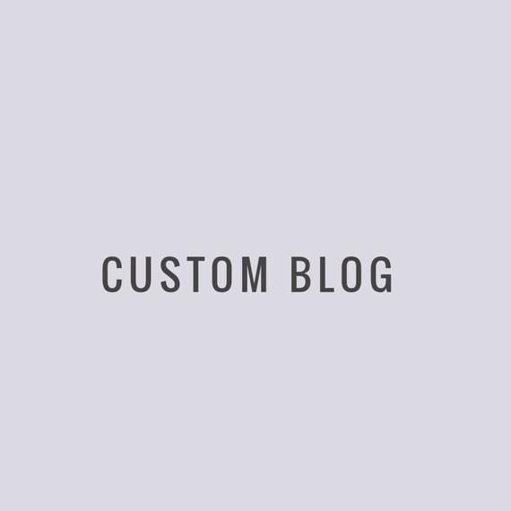 SPECIAL OFFER Premade Custom Blog Design Package / Custom Blogger Design Package