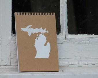 Michigan Notebook   Michigan Journal   Kraft Paper Notebook   Kraft Paper Journal   Michigan Notepad   Michigan Gift   Gift for Friend
