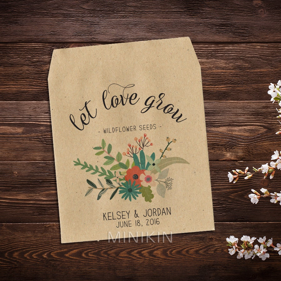 Wedding Seed Favors Wedding Seed Packet Seed Packet Favor